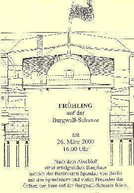 Einladung Frühling auf der Burgwallschanze Rueckseite